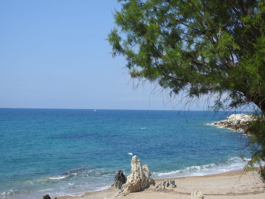 Stand Nähe Kyparissia