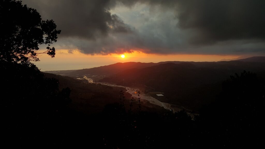 Sonnenuntergang von Lodge aus