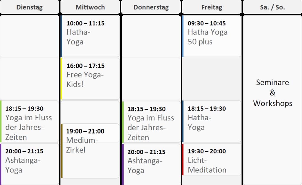 Stundenplan Yogagossau.ch